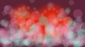 Red heart blur bokeh on purple background. Royalty Free Stock Image