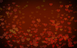 Red heart bokeh abstract background Royalty Free Stock Images