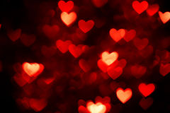 Red heart bokeh Royalty Free Stock Photography