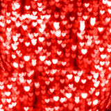 Red heart bokeh background Stock Images