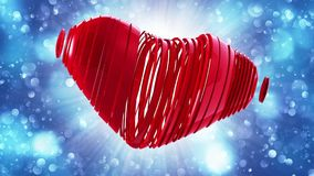 Red heart on a bokeh background Stock Photography
