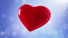 Red heart on a bokeh background Stock Image