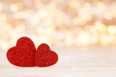 Red heart bokeh background, valentine day greeting card. Red heart, valentine day greeting card. Bokeh background stock photo