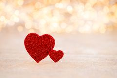 Red heart bokeh background, valentine day greeting card. Red heart, valentine day greeting card. Bokeh background stock images