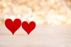 Red heart bokeh background, valentine day greeting card. Red heart, valentine day greeting card. Bokeh background royalty free stock photos