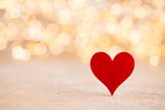 Red heart bokeh background, valentine day greeting card. Red heart, valentine day greeting card. Bokeh background stock photography