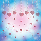 Red heart on a bokeh background. Valentines day. Royalty Free Stock Photos