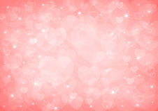 Red heart bokeh Royalty Free Stock Images