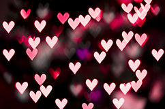 Red heart bokeh. Valentine's Day background Royalty Free Stock Photos