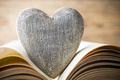 Red heart of the book. Greeting cards. Royalty Free Stock Photos