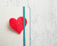 Red heart bookmark Royalty Free Stock Photo