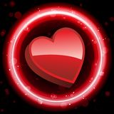 Red Heart Border Stock Image