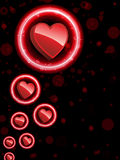Red Heart Border Royalty Free Stock Image
