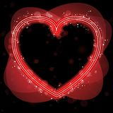 Red Heart Border background Royalty Free Stock Photography
