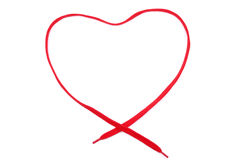The red heart bow from tie Stock Image