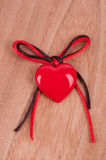 Red heart and bow Stock Photos
