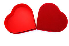 Red heart box Stock Image