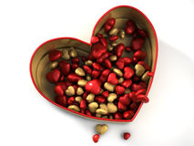 Red heart box Royalty Free Stock Images