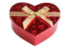 Red heart box Stock Photos