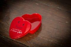 Red heart box Stock Photos