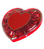 Red heart box of chocolates Stock Image