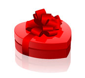 Red heart-box Royalty Free Stock Images