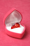 Red heart in box Stock Images