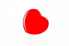 Red Heart box lean to right hand side Stock Photo
