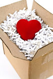 Red heart box Royalty Free Stock Photos