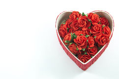 Red heart box with rose Royalty Free Stock Images