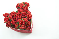 Red heart box with rose Royalty Free Stock Image