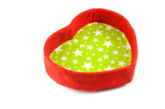 Red heart box. Red box in heart shape  on white background Royalty Free Stock Photos