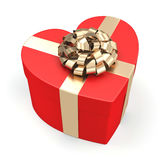 Red heart box Stock Images