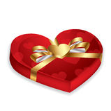 Red heart box,vector Stock Image