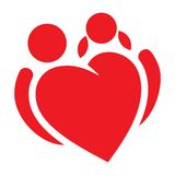 Red heart boy and girl  symbol Stock Photography