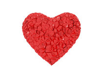 Red heart Broken Stock Photo