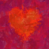 Red heart brush stroke background Stock Photography