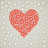 Red Heart bubble background template Royalty Free Stock Image
