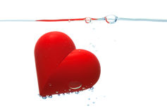 Red heart with bubbles Stock Photos