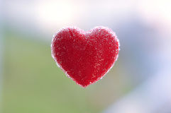 Red heart with bubbles in the air Stock Image