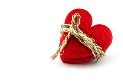 Red heart with a bundle, concept with love with bondage Stock Photography