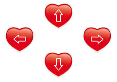 Red heart buttons Royalty Free Stock Photo