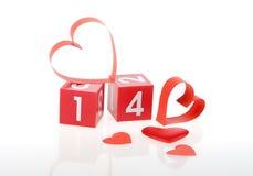 Red heart on calendar Stock Image