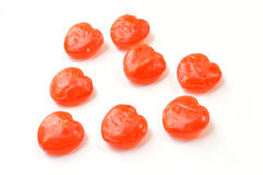 Red heart candy. On white background Royalty Free Stock Photography