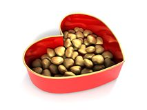 Red heart candy box Stock Image