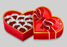 Red heart candy box Royalty Free Stock Photo