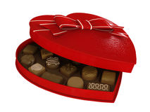 Red heart candy chocolates box Royalty Free Stock Image