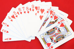 Red heart cards Royalty Free Stock Images