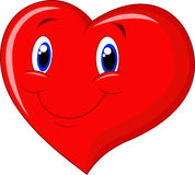 Red heart cartoon Royalty Free Stock Photo