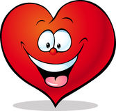 Red heart cartoon isolated on white Royalty Free Stock Images